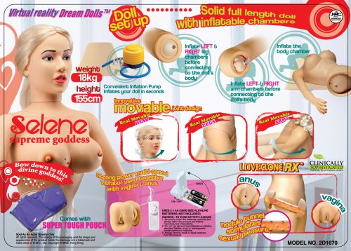SELENE DOLL LOVECLONE VAG/ANUS MOVABLE SOLID