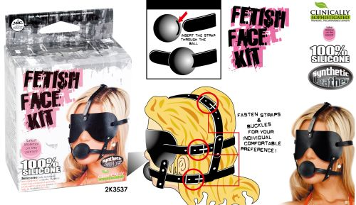 MASK FETISH FACE KIT W/MTH GAG ** price reduced **