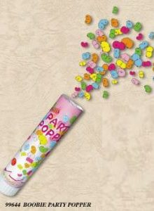 BOOBIE PARTY POPPER TUBE ** CLEARANCE **